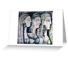 THREE GRACES Greeting Card