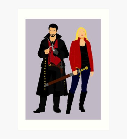 Captain Swan Art Print