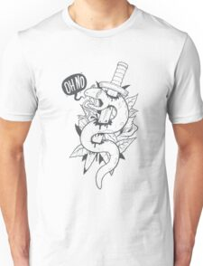 Poor Mr. Snake BW Unisex T-Shirt