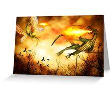 Dragon's Rage Greeting Card