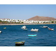 Costa Teguise bay Photographic Print
