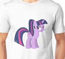 Twillight wit a ponytale Unisex T-Shirt