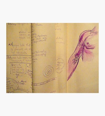 Philosophy Notes Photographic Print