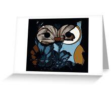 Dark Owl Wisdom Greeting Card
