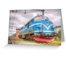 Locomotives of Värnamo VI Greeting Card
