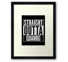 Straight Outta Quahog - Family Guy Framed Print