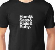 Haml & Sass & Rails & Ruby. Unisex T-Shirt