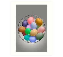 The Easter Bunny's Cache Art Print