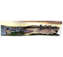 Point To Point - Sydney Harbour , Sydney Australia (HDR Panoramic) - The HDR Experience Poster