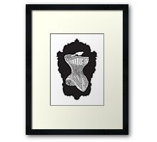 corset with bird Framed Print