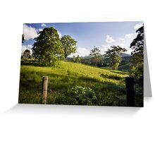 Rolling hills of Bellingen Greeting Card