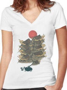 There's Chocolate in Those Mountains Women's Fitted V-Neck T-Shirt