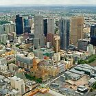 Melbourne From Above by TeaCee