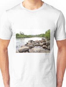 long exposure river Unisex T-Shirt
