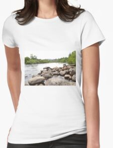 long exposure river Womens Fitted T-Shirt