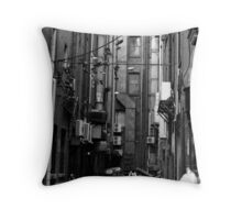The Shoe Factory Throw Pillow