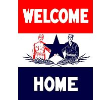 Vintage Military Welcome Home  Photographic Print