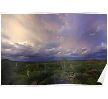 An Outback Evening Storm Poster