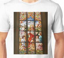 Stained Glass window, Name of Mary church, Novi Sad, Serbia (2) Unisex T-Shirt