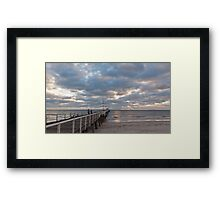 Henley Beach as the sun sets Framed Print
