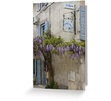 Flowering wisteria St Remy Provence Greeting Card