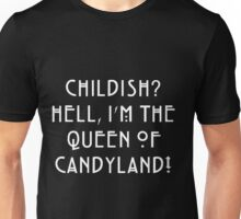 Queen of Candyland White Unisex T-Shirt