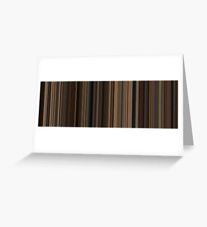 Moviebarcode: The Godfather (1972) [Simplified Colors] Greeting Card