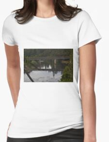 bridge reflection Womens Fitted T-Shirt