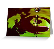 Green Drop Greeting Card