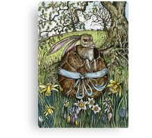 The Easter Egg Hunt Canvas Print