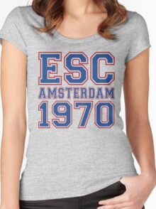 ESC Amsterdam 1970 [Eurovision] Women's Fitted Scoop T-Shirt