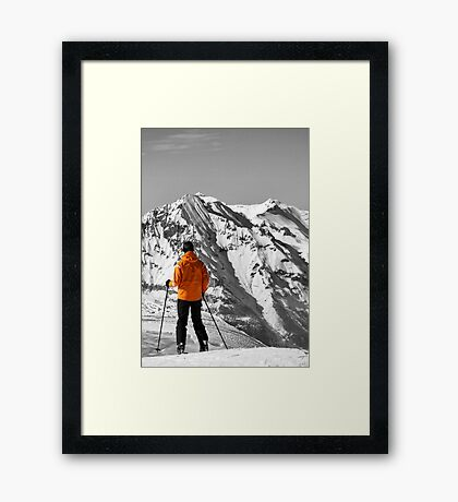 Reaching the Summit: Intrigue & Amazement Framed Print
