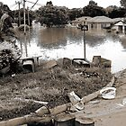 Brisbane Floods 2011 - Inundation - Debris (B&W - Sepia) by Neil Ross