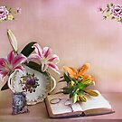 Still life Lilies  by Irene  Burdell