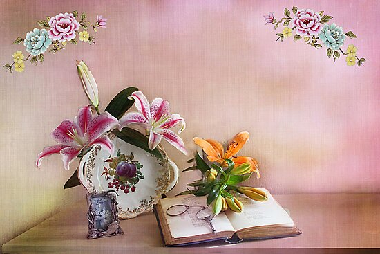 Still life Lilies  by Irene  Burdell