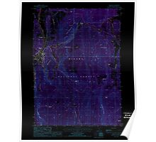 USGS Topo Map Oregon Chiloquin 279337 1988 24000 Inverted Poster