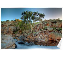 Mannum Falls at Sunrise - Murraylands, South Australia Poster