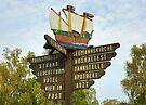 MVP28 Signpost at Prerow, Germany. by David A. L. Davies