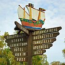 MVP28 Signpost at Prerow, Germany. by David A. L. Davies