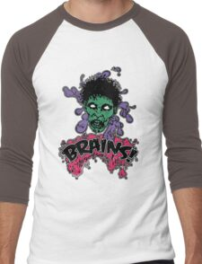 Brains! Men's Baseball ¾ T-Shirt