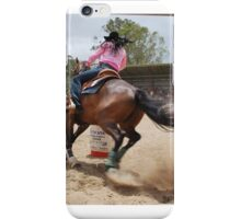 Barrel races iPhone Case/Skin