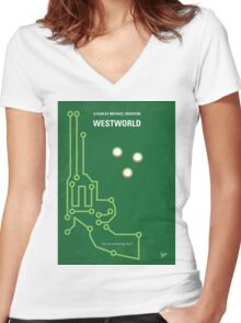 No231 My Westworld minimal movie poster Women's Fitted V-Neck T-Shirt