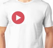 Red Play Button Unisex T-Shirt