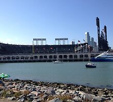 AT&T Park from other side of McCovey Cove by hitomimyhomie