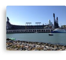 AT&T Park from other side of McCovey Cove Canvas Print