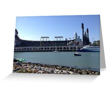 AT&T Park from other side of McCovey Cove Greeting Card