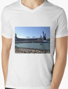 AT&T Park from other side of McCovey Cove Mens V-Neck T-Shirt
