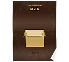 No233 My Seven minimal movie poster Poster