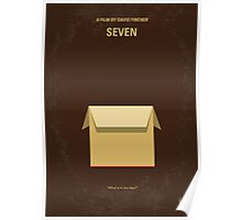 No233 My Seven minimal movie poster Poster