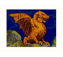 Woke up on the wrong side of the rock Art Print